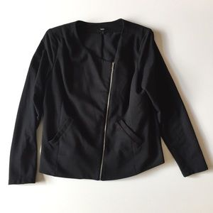 Mossimo Black Asymmetrical Jacket Size XL